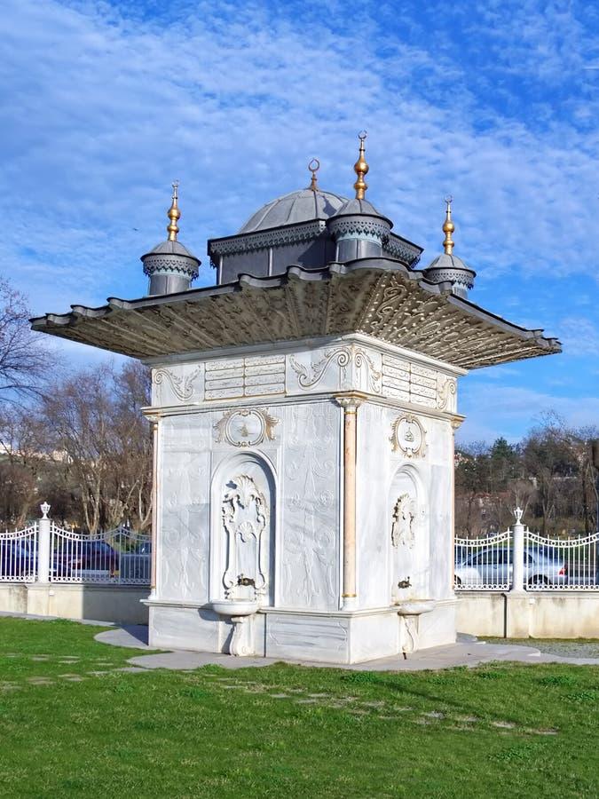 киоск фонтана стоковое изображение