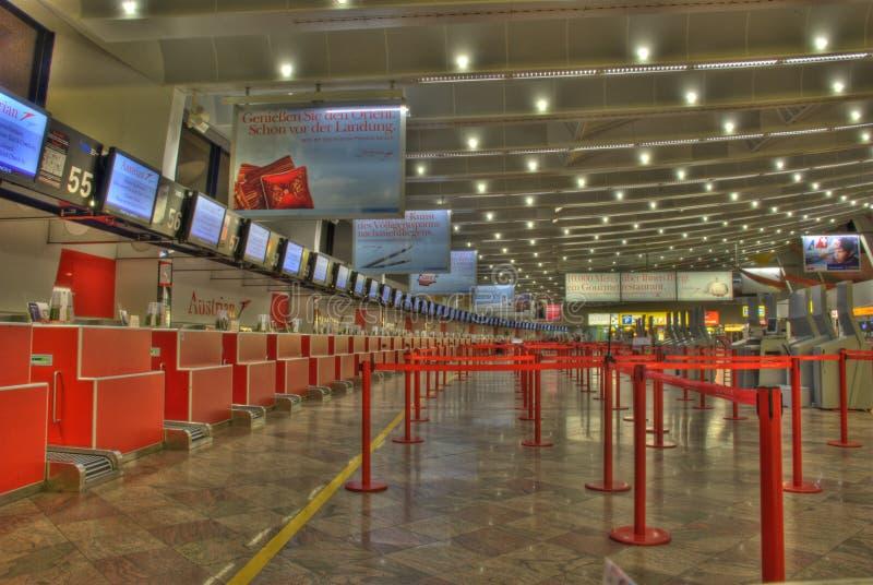 Киоск Austrian Airlines стоковые изображения rf