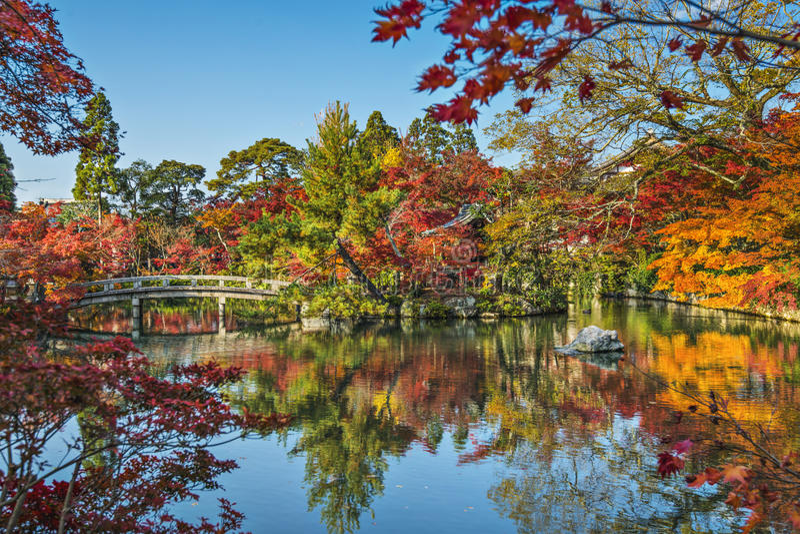 Киото на саде виска Eikando стоковое изображение rf