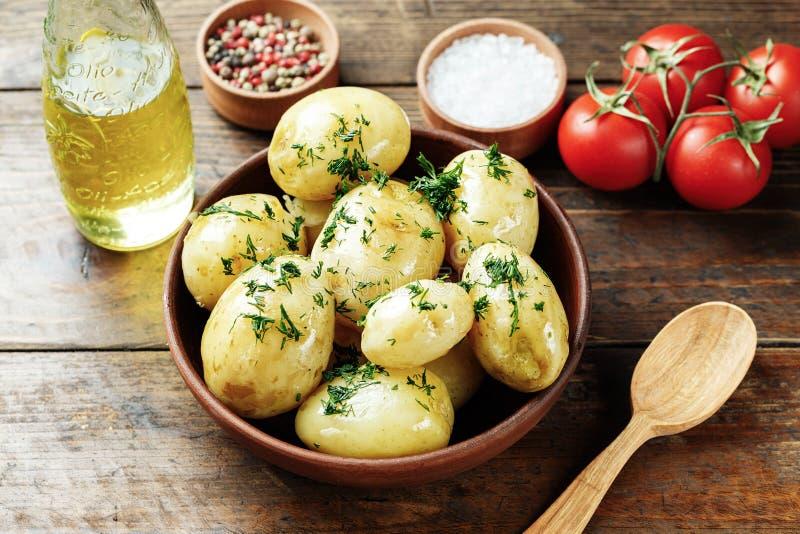 Кипеть молодые картошки стоковые фотографии rf