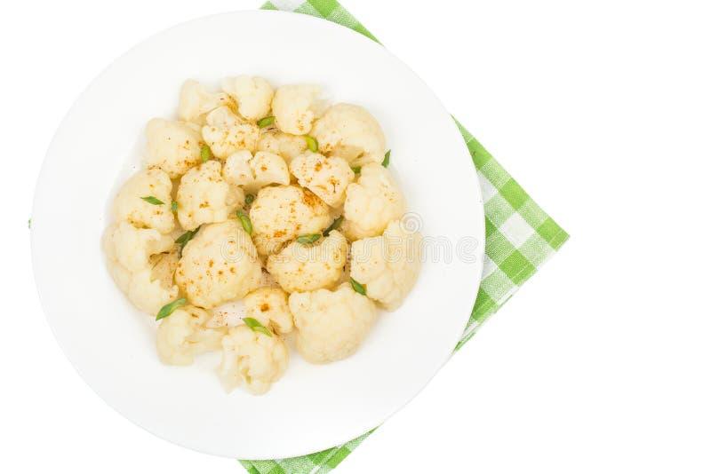 Кипеть цветная капуста для вегетарианской и диетической еды стоковые изображения rf