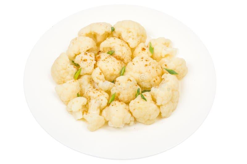Кипеть цветная капуста для вегетарианской и диетической еды стоковое изображение