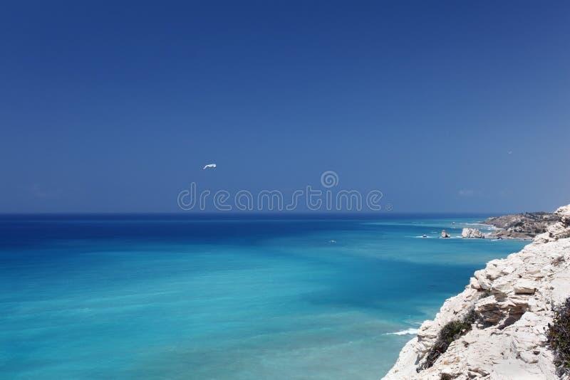 Кипр около seascape pafos стоковые изображения rf