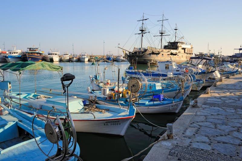 Кипр, прогулочный катер, реплика известного черного жемчуга стоковое изображение rf