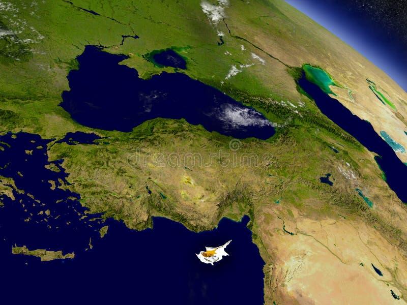 Download Кипр с врезанным флагом на земле Иллюстрация штока - иллюстрации насчитывающей глобус, планета: 81804156
