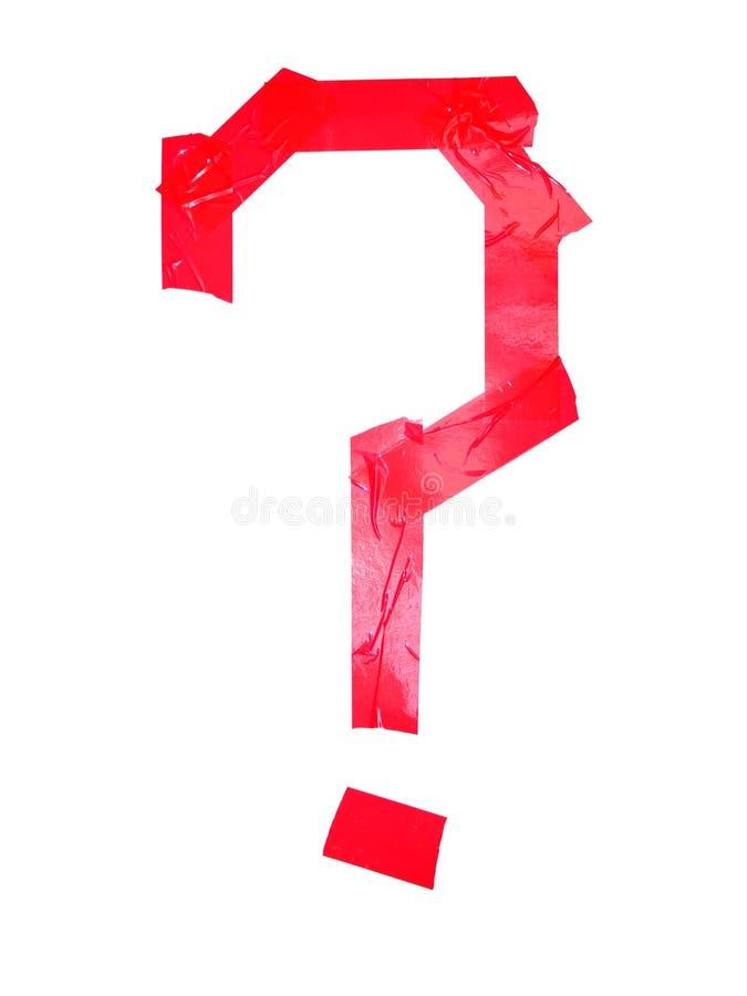 Кириллический символ вопросе о письма сделанный частей изолируя ленты стоковые фото