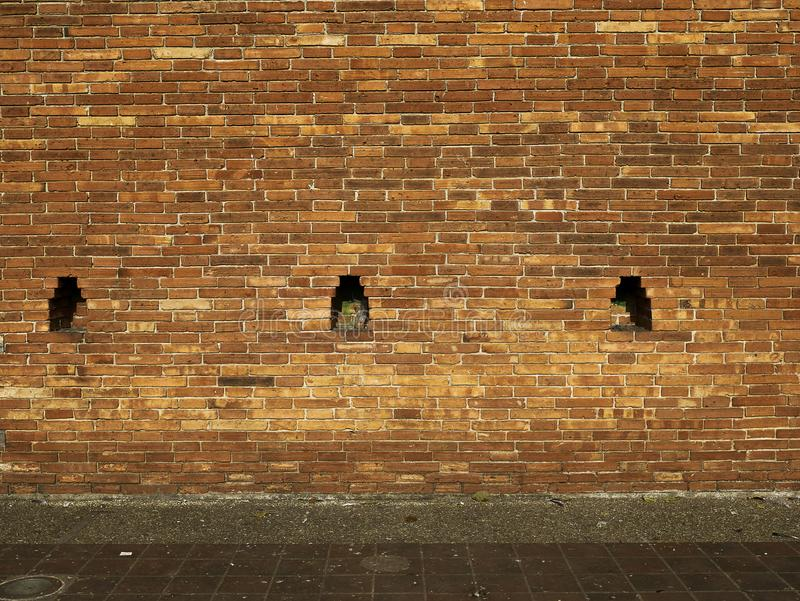 Кирпичная стена Брайна, текстура Backgroud стоковая фотография rf