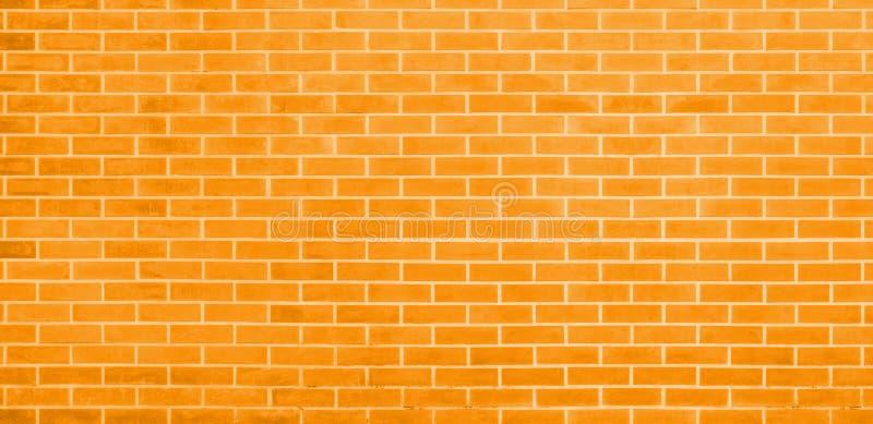 Кирпичная стена, желтая предпосылка текстуры стены кирпичей для графического дизайна иллюстрация штока