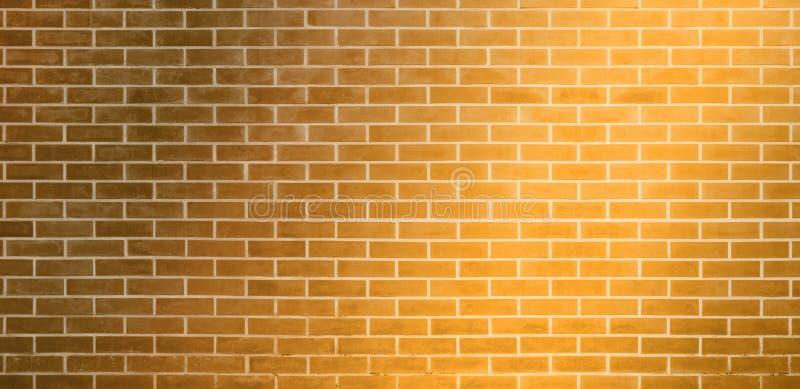 Кирпичная стена, золотая желтая предпосылка текстуры стены кирпичей для графического дизайна иллюстрация вектора