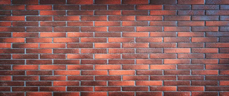 Кирпичная стена красного цвета, широкой панорамы masonry стоковые фотографии rf