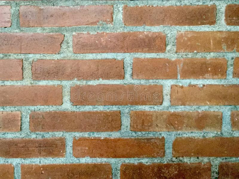 Кирпичная стена Красный Справочная информация стоковые фото
