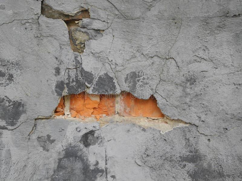 Кирпичная стена с отказами стоковая фотография rf