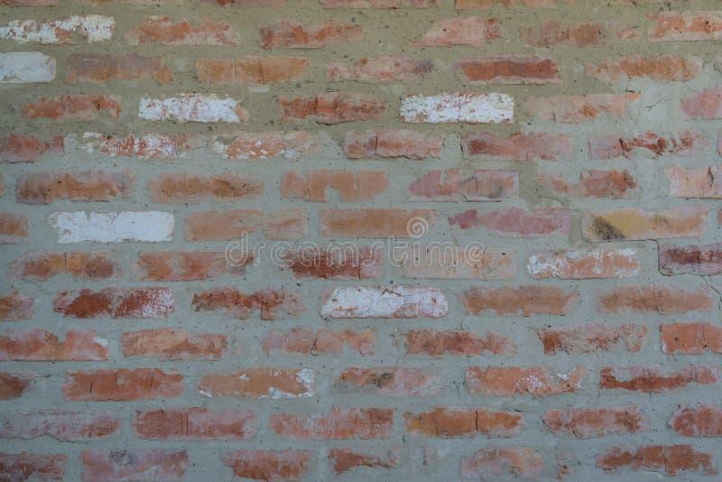 Кирпичная стена текстуры детали старая красная абстрактная предпосылка стоковые изображения rf