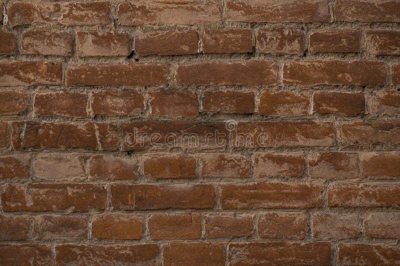 Кирпичная стена темной предпосылки grunge старая коричневая стоковые фотографии rf