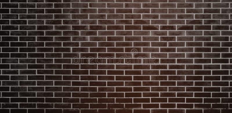 Кирпичная стена, черная предпосылка текстуры стены кирпичей Брауна для графического дизайна иллюстрация вектора