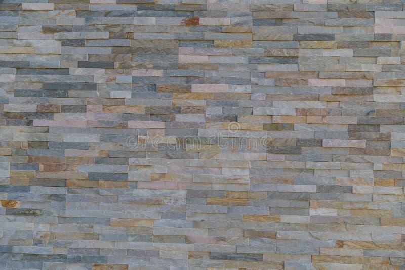 Кирпич мраморной текстуры декоративный, плитки стены сделанные естественного камня стоковая фотография rf