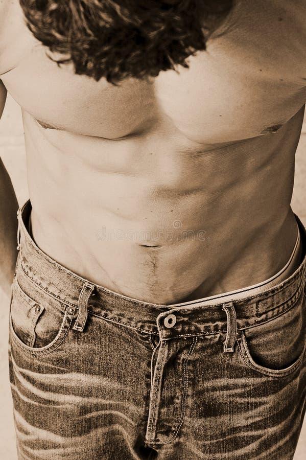 кисловочные помытые джинсыы стоковая фотография rf