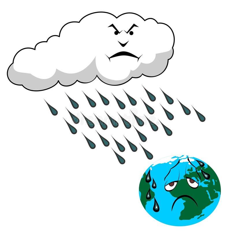 кислотный дождь иллюстрация штока
