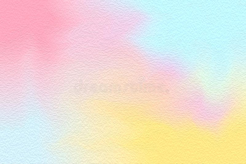 Кисть абстрактного искусства розовая голубая красочная яркая на бумажной предпосылке текстуры, цвете воды multi красочного искусс стоковые фотографии rf