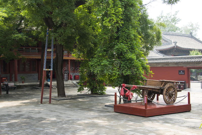 Китаец Азии, Пекин, старая архитектура, ландшафт ŒGarden ¼ Dongyue Templeï стоковое фото