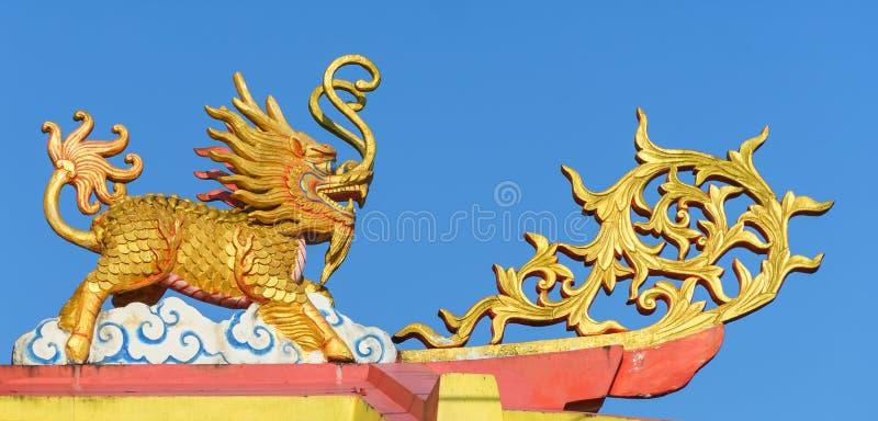 Китаец Ghilen на крыше святыни стоковые изображения