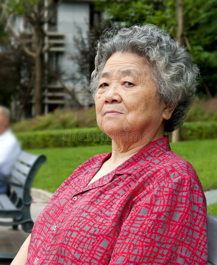 китайская бабушка стоковое изображение
