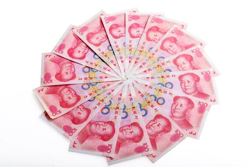 Китайская банкнота rmb денег стоковое фото rf