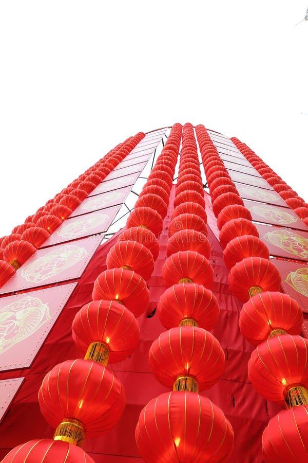 Китайская башня фонарика лампы стоковое изображение rf