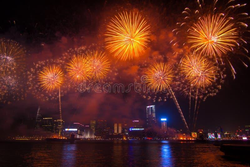 Китайская выставка фейерверков Нового Года стоковые изображения rf
