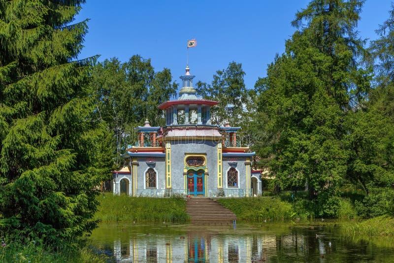 Китайская дача, Tsarskoye Selo, Россия стоковые изображения
