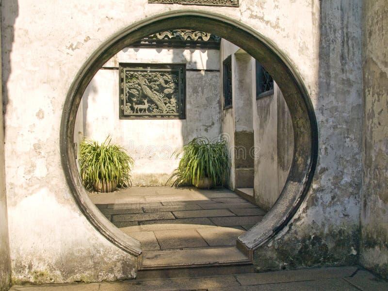 китайская дверь стоковое фото