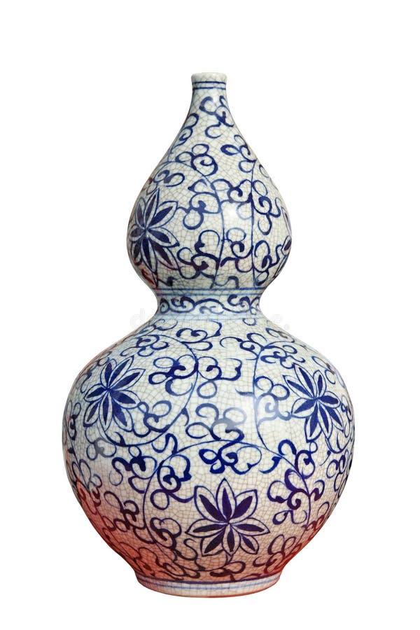 китайская декоративная ваза фарфора gourd стоковое фото rf