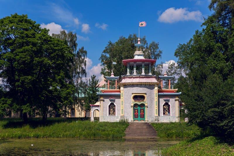Китайская деревня в парке Александра стоковое изображение