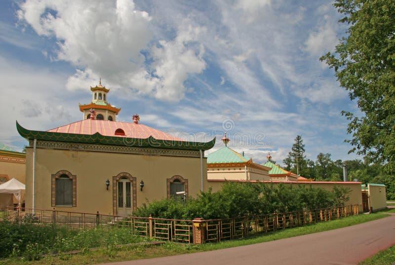 Китайская деревня в парке Александра, TSARSKOYE SELO, РОССИЯ стоковое фото rf