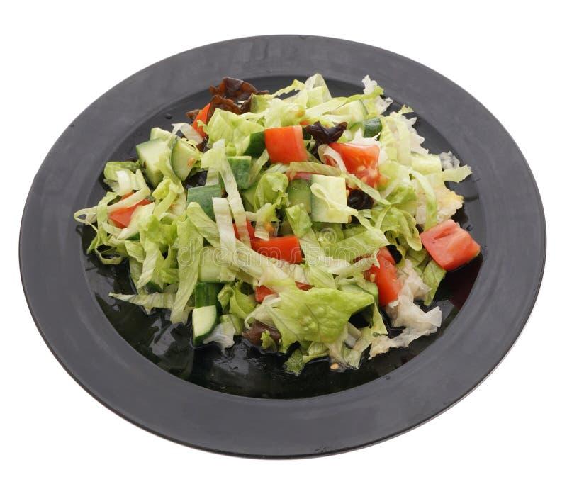 китайская еда Зеленый салат с огурцом и томатом стоковое изображение rf