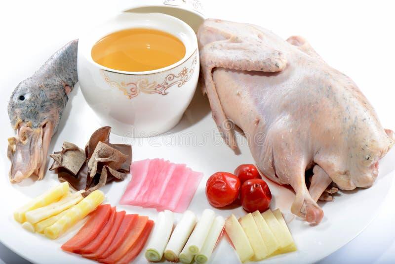 Китайская еда: Суп утки стоковая фотография rf