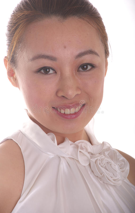 китайская женщина портрета стоковое фото