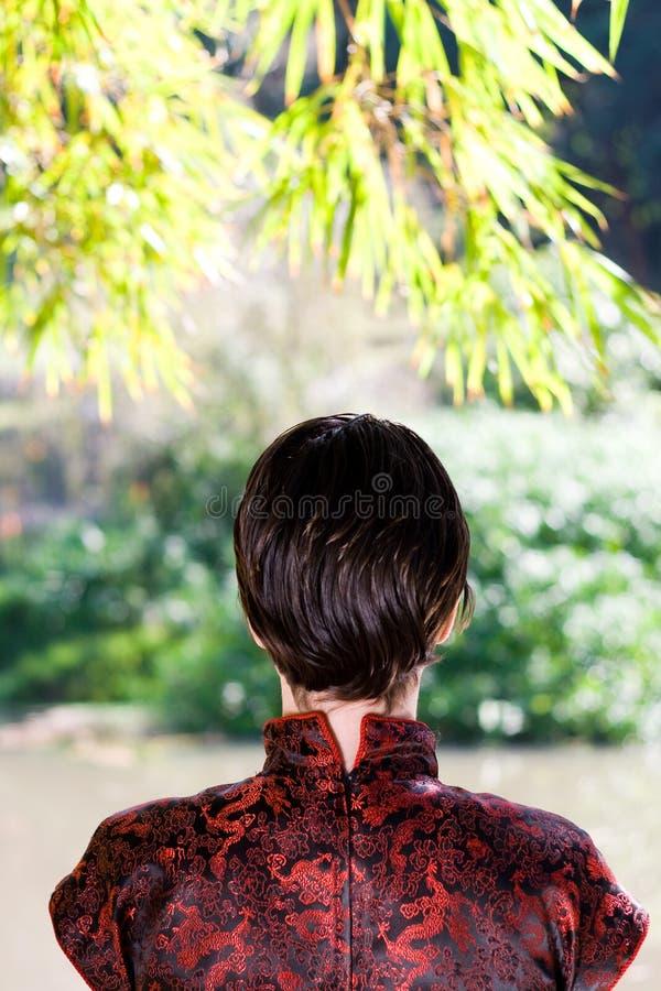 китайская женщина стоковое изображение rf