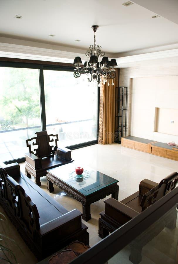 китайская живущая комната стоковое фото