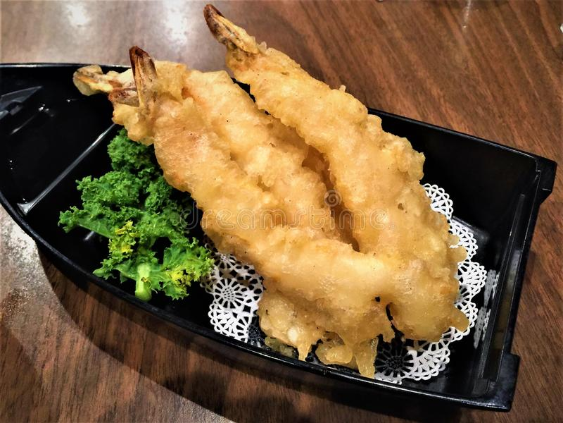 Китайская закуска креветки тэмпуры стоковые фотографии rf