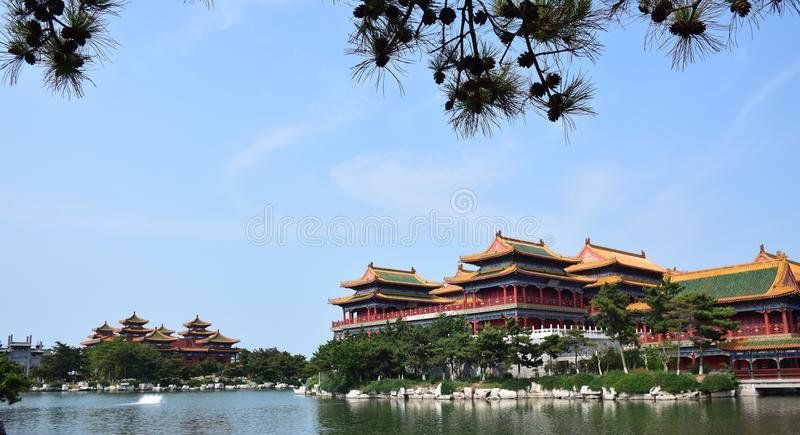 Китайская историческая архитектура стоковые изображения