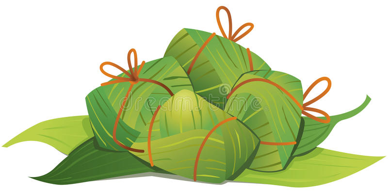 Китайская иллюстрация вареников риса бесплатная иллюстрация