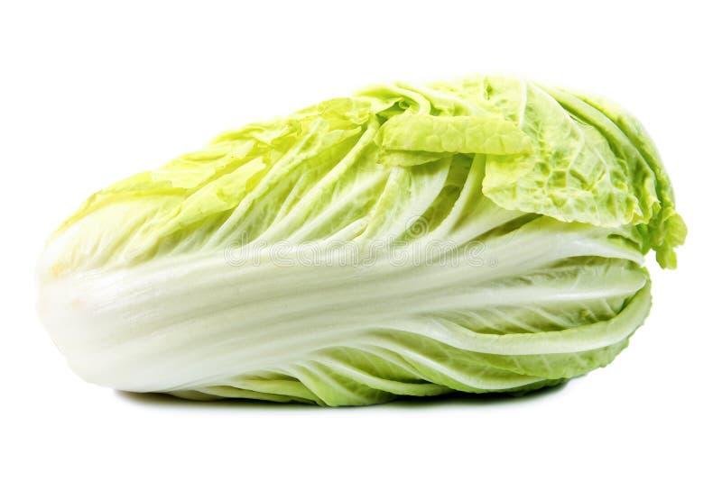 Китайская капуста, белая предпосылка стоковые фото