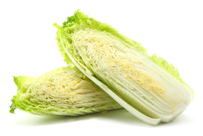 Китайская капуста изолированная на белой предпосылке стоковое изображение