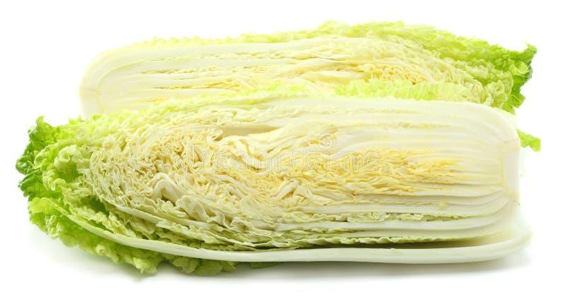 Китайская капуста изолированная на белой предпосылке стоковые изображения