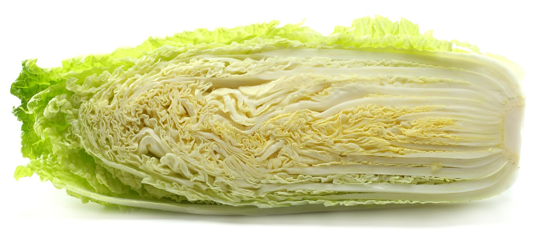Китайская капуста изолированная на белой предпосылке стоковые фото