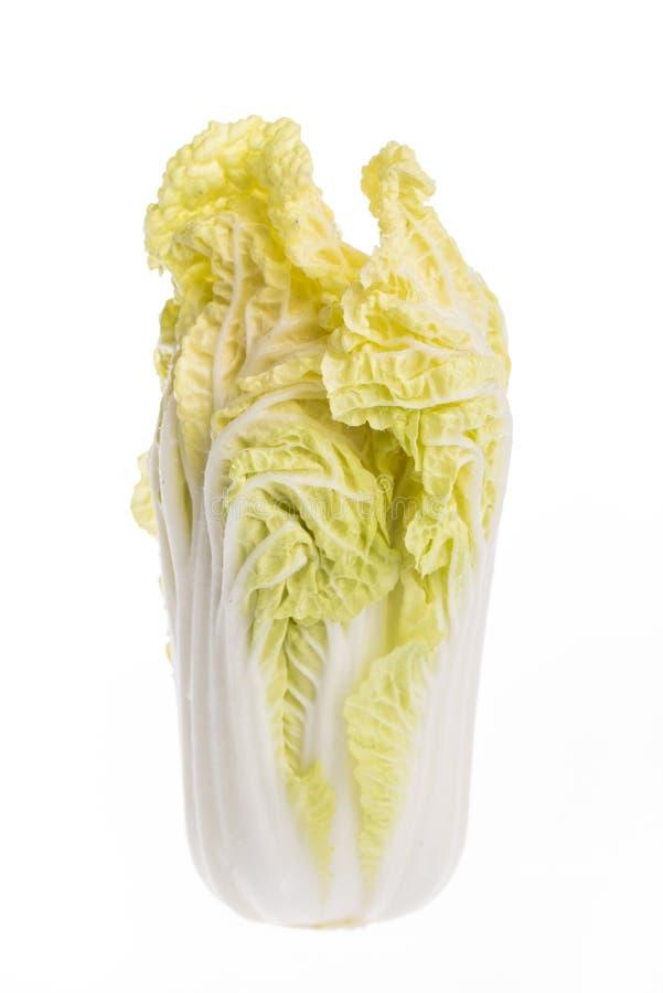 Китайская капуста изолированная на белой предпосылке стоковое фото