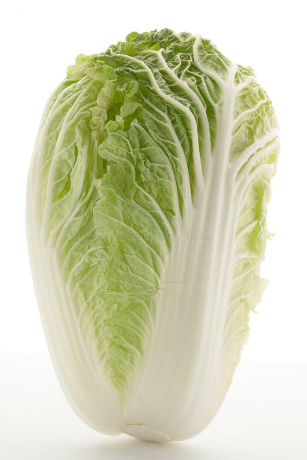 Китайская капуста на белой предпосылке стоковое изображение