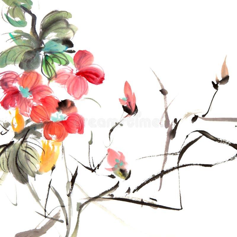 китайская картина традиционная иллюстрация штока