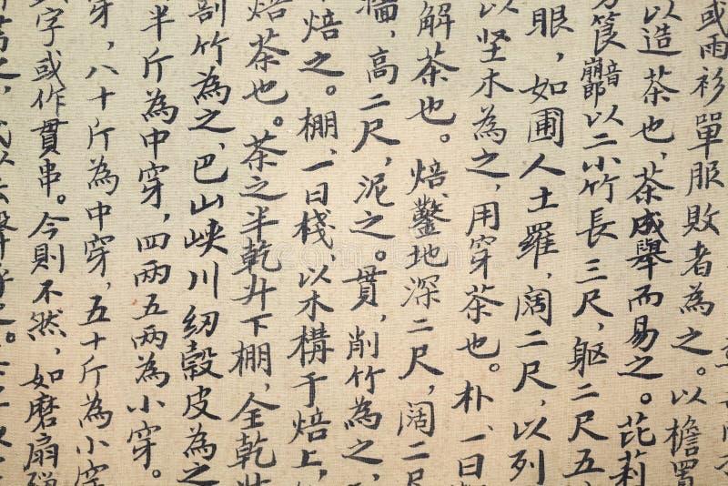 Китайская каллиграфия Священного Писания чая стоковая фотография